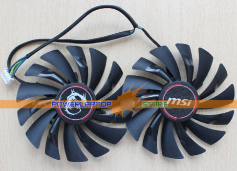 NEW MSI GTX970 GTX980 PLD10010S12HH 6Pin Graphics Video Card Fan