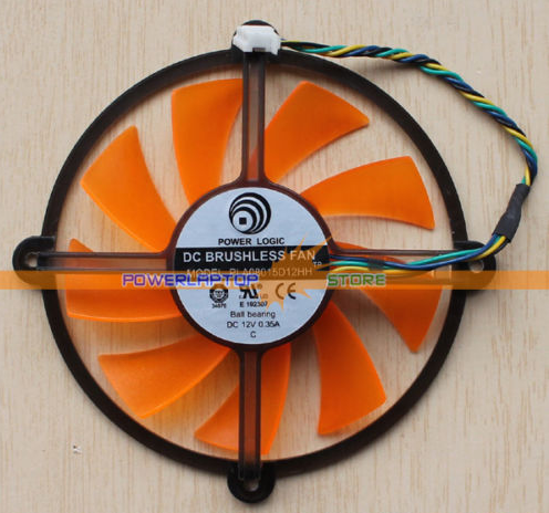 New 87mm PLA08015D12HH 0.35A 4Pin Graphics ASUS GTS450 GPU Fan