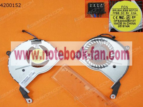 New CPU Cooling Fan HP Pavilion 15-N series DFS200405010T 4PIN