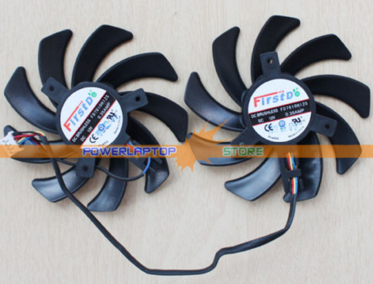 NEW 85mm Video Card Dual-X FD7010H12S HD7850 HD7870 Fan