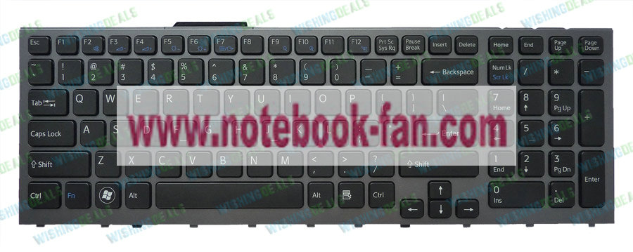 Backlit NEW SONY VAIO VPCF12AFM/H VPCF1290X US Keyboard